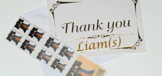 Thanks card for Liam(s)!